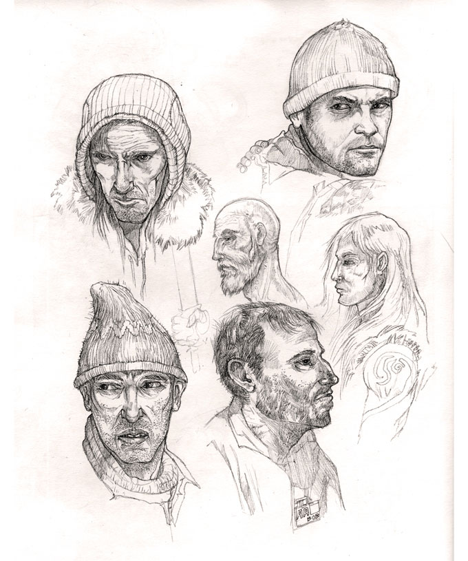 people face sketches
