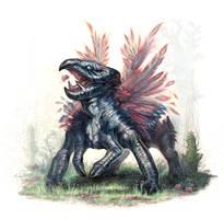 Carturian-Strut creature by MIKECORRIERO