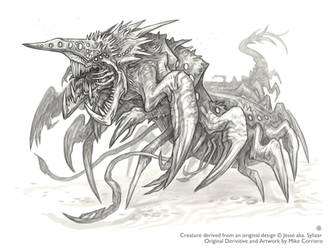 Commissioned Sketch - Sylizar by MIKECORRIERO