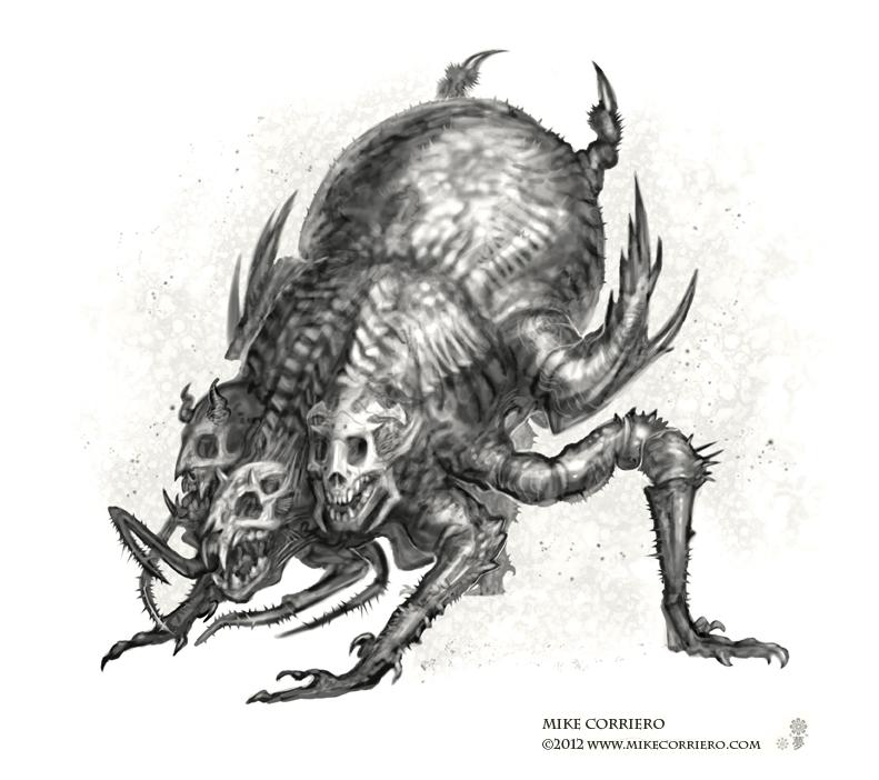 Demon Calvaria acari by MIKECORRIERO