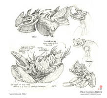 Ant eater/armadillo Chamidillo sketches by MIKECORRIERO