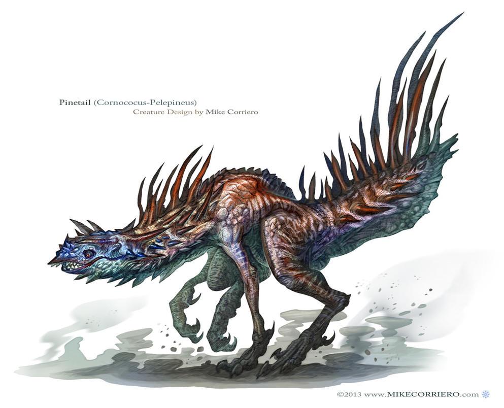 Bestiario  Pinetail__cornococus_pelepineus__by_mikecorriero-d6eefts