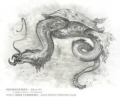 Nematoses-Alien-01 worms by MIKECORRIERO