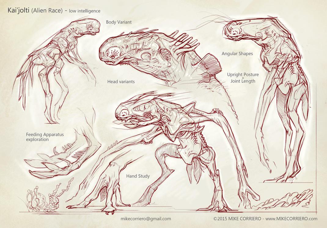 Alien Dymorph Beluga Insectopod by MIKECORRIERO