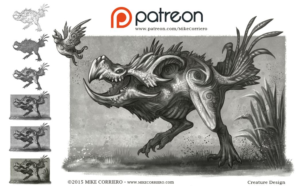 Teradock Creature - wip steps + JPG patron reward by MIKECORRIERO