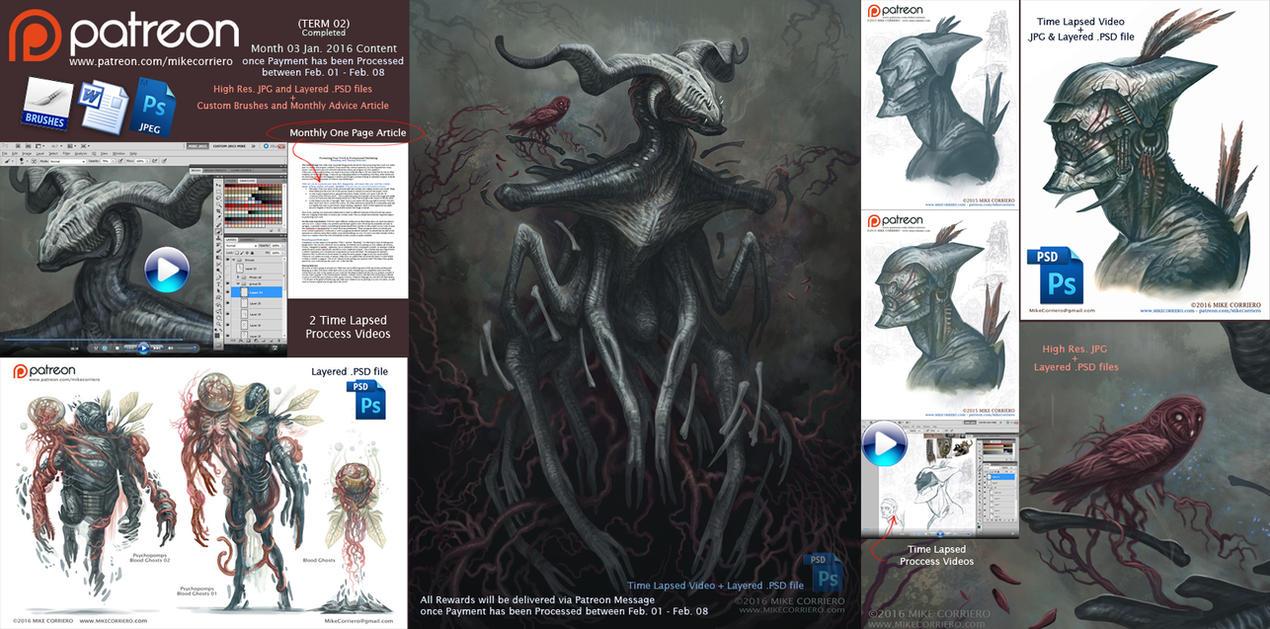 Creature Art - Patreon Term-02 Rewards Review by MIKECORRIERO
