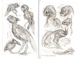 The Birds and the B...Monsters by MIKECORRIERO