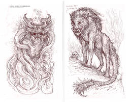 Demon and Manticore by MIKECORRIERO