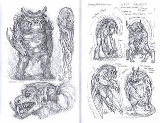 Demons in pen by MIKECORRIERO