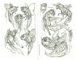 Dragons in pen by MIKECORRIERO