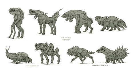 BODY PROPORTIONS Thumbnails batch 01 by MIKECORRIERO
