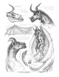 Creature Sketch Page Jersey Devil by MIKECORRIERO