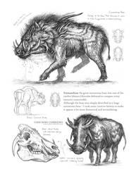 Creature Sketch Page Erymanthian by MIKECORRIERO