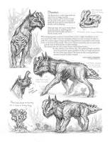 Creature Sketch Page Something Moose related by MIKECORRIERO