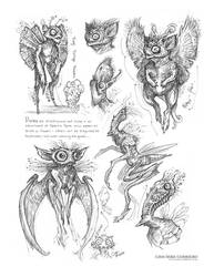 Creature Sketch Page Pixies by MIKECORRIERO