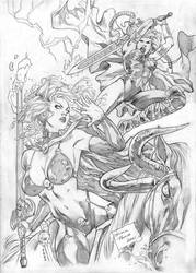 Lady Death and Valkyrie by pansica
