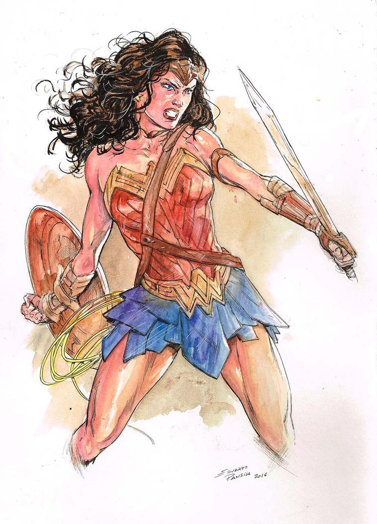 Wonder woman watercolor by pansica