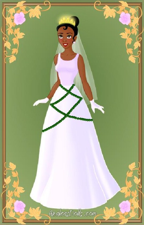 Tiana wedding dress by indygirl89 on deviantart for Princess tiana wedding dress