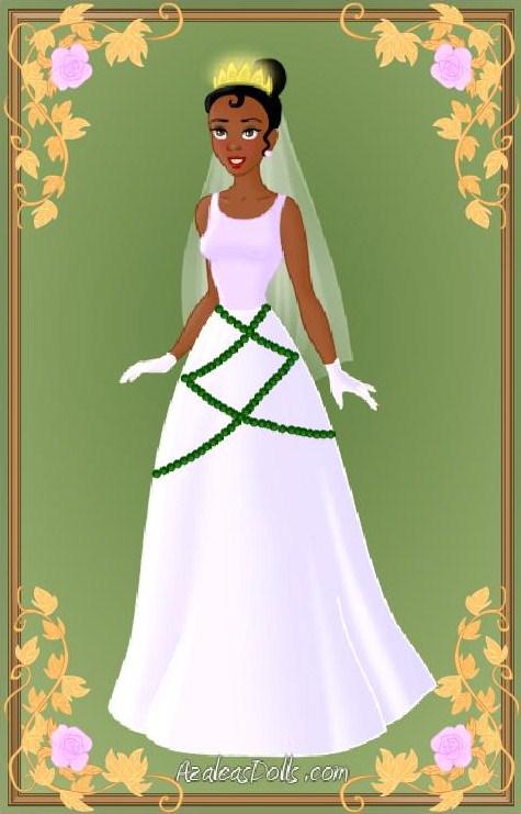 Tiana wedding dress by indygirl89 on deviantart for Princess tiana wedding dress