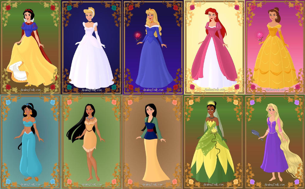 Disney Princesses By IndyGirl89 On DeviantArt