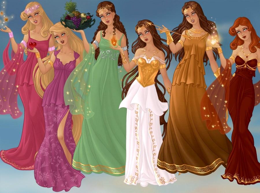 Greek Goddesses By Indygirl89 On Deviantart
