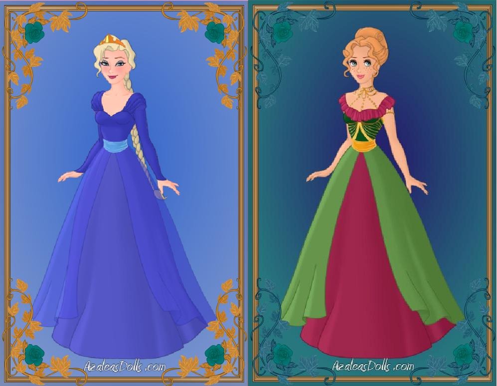 Elsa and Anna - New Looks by IndyGirl89