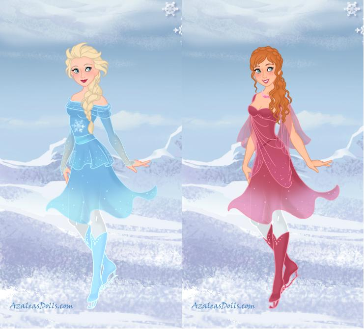 Anna and Elsa - Figure Skaters by IndyGirl89