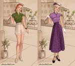 Anna and Elsa - 1940s Fashion