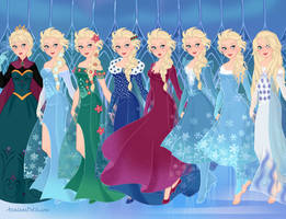 Elsa's Outfit Progression