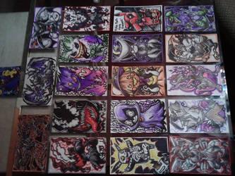 Pokemon Halloween Cards by trejackt