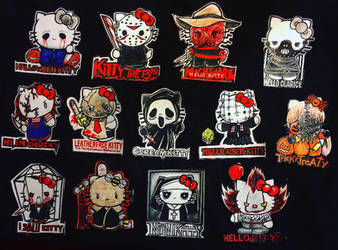 Horror Hello Kittys stickers (series 1) by trejackt
