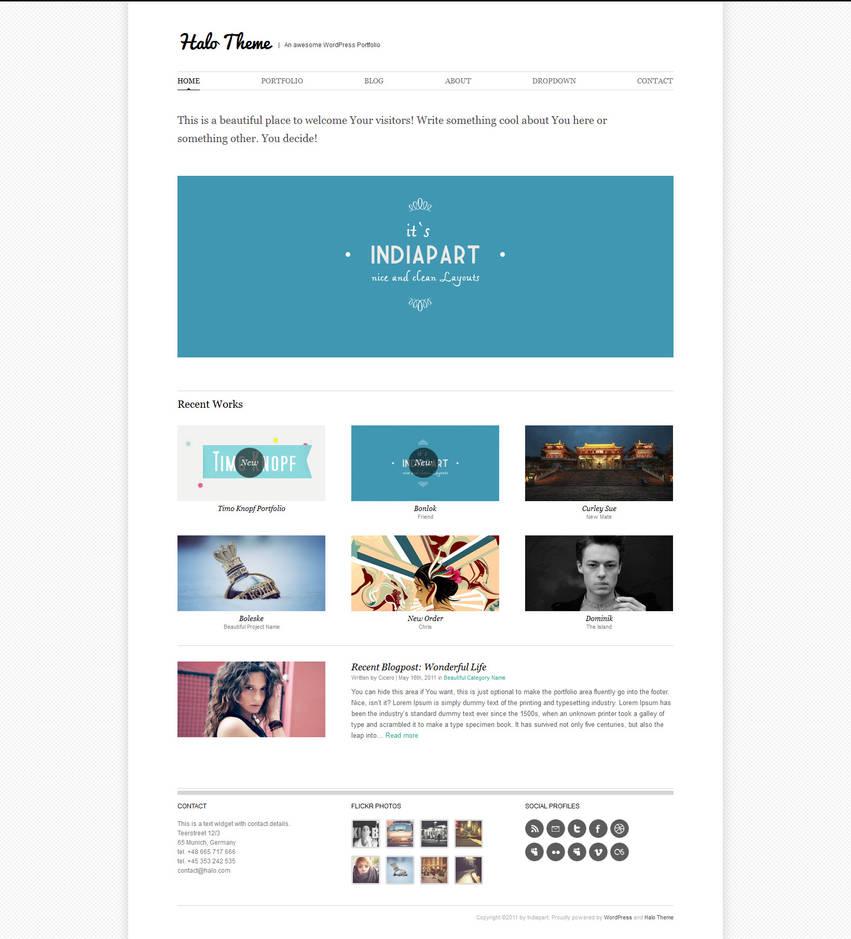 Halo Wordpress  Theme by Indiathemes