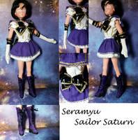 Sera Myu Sailor Saturn custom doll clothes comm by Leaf-nin