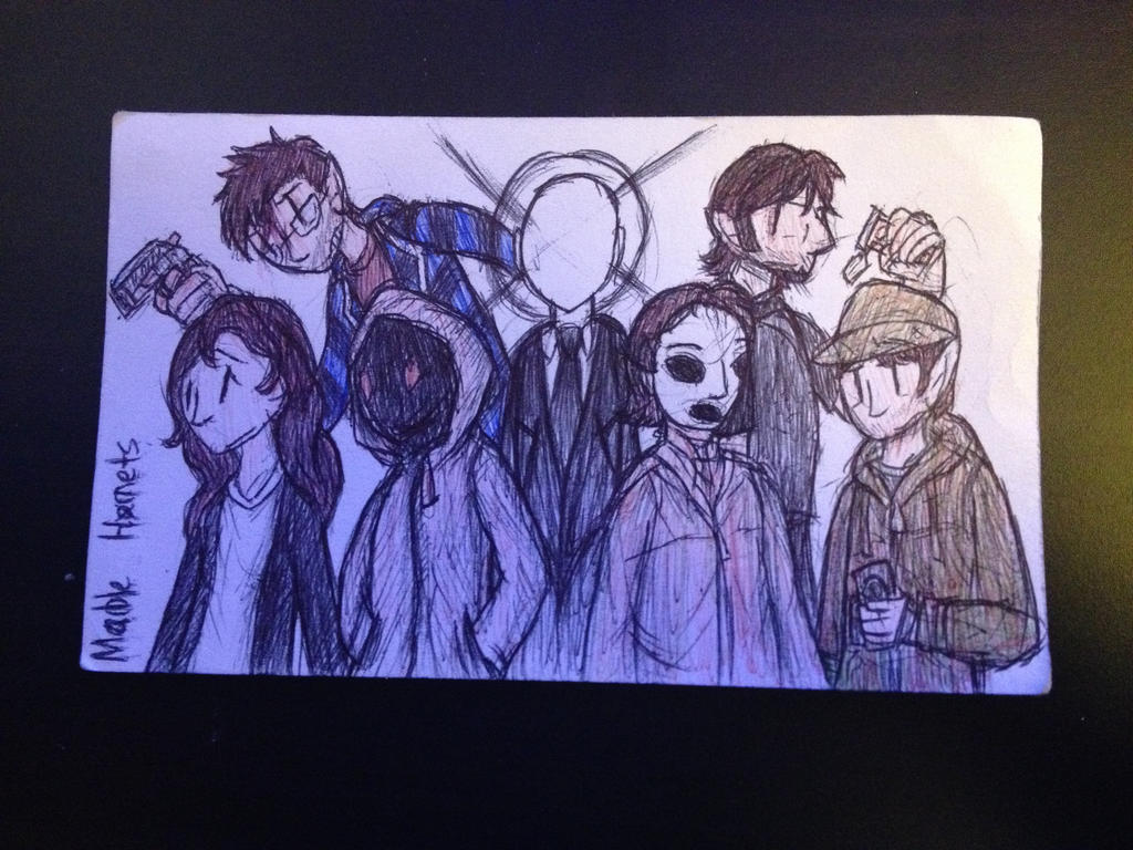 Marble Hornets Drawing by The-Equinox-Arises