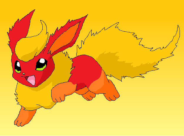 Flareon by RaindropLily