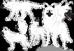 Wolfs Rain oc #3 Wolf form