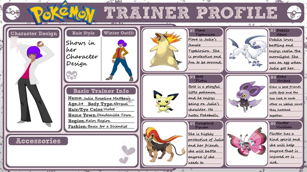 Trainer profile pokemon emerald