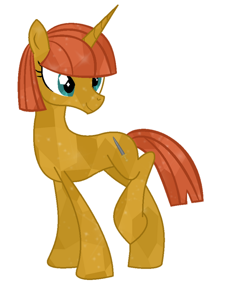 Crystal Pony OC (Without Armor) by RaindropLily