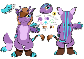 Luxia official ref by RaindropLily