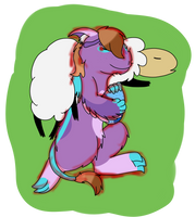 Cuddling with a spoodle- Basic Magic Class Week 1 by RaindropLily