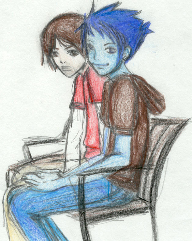 Bloo and Mac by Sperg