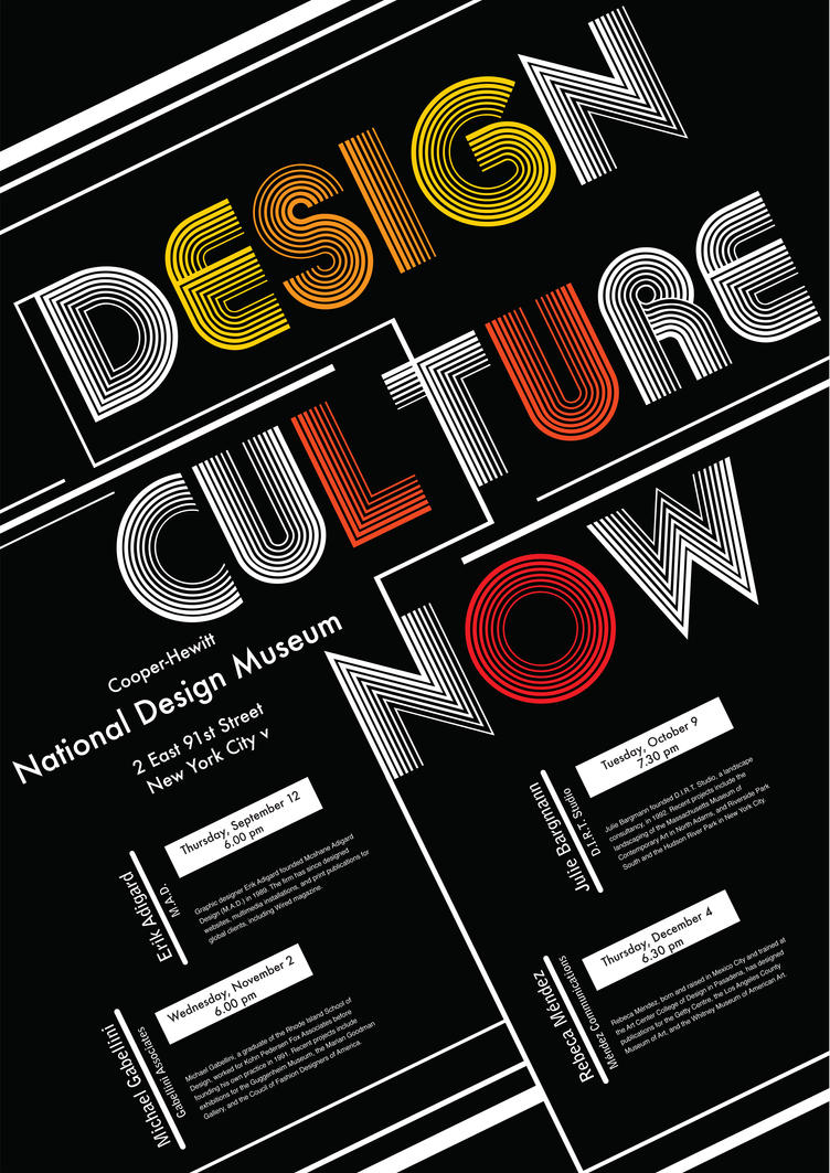 Poster design deviantart - Design Culture Now Poster By Anuhesut