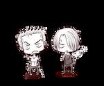 chibi Zoro and Sanji