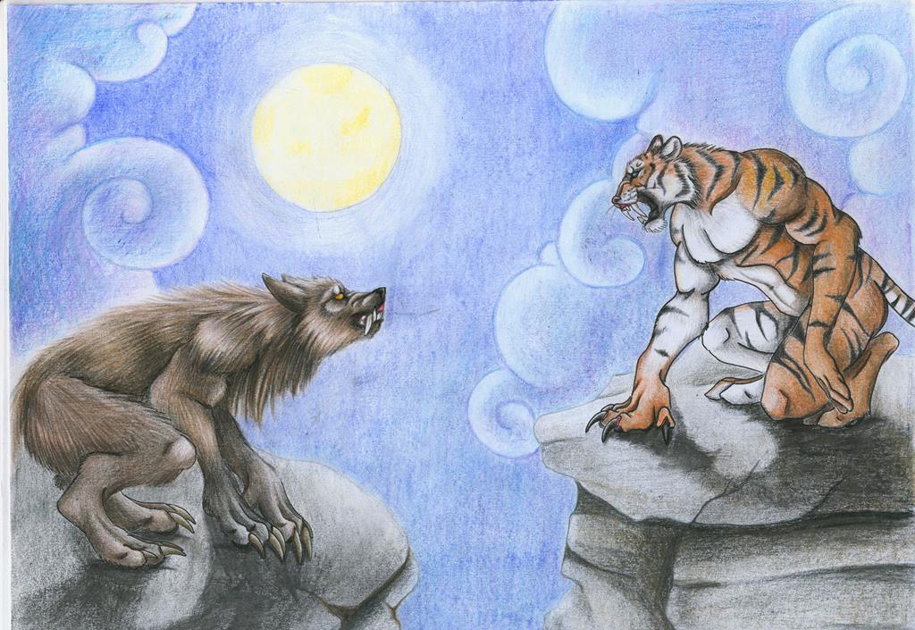 Werewolf vs weretiger - photo#2