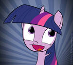 Twilight Sparkle awesome face + WALLPAPER