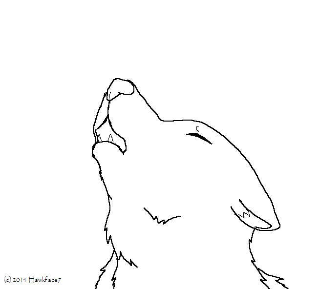 Sad Wolf Howling Lineart By Ariasong7 On Deviantart