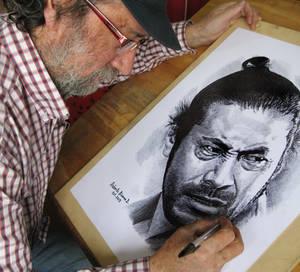 dibujando a toshiro mifune