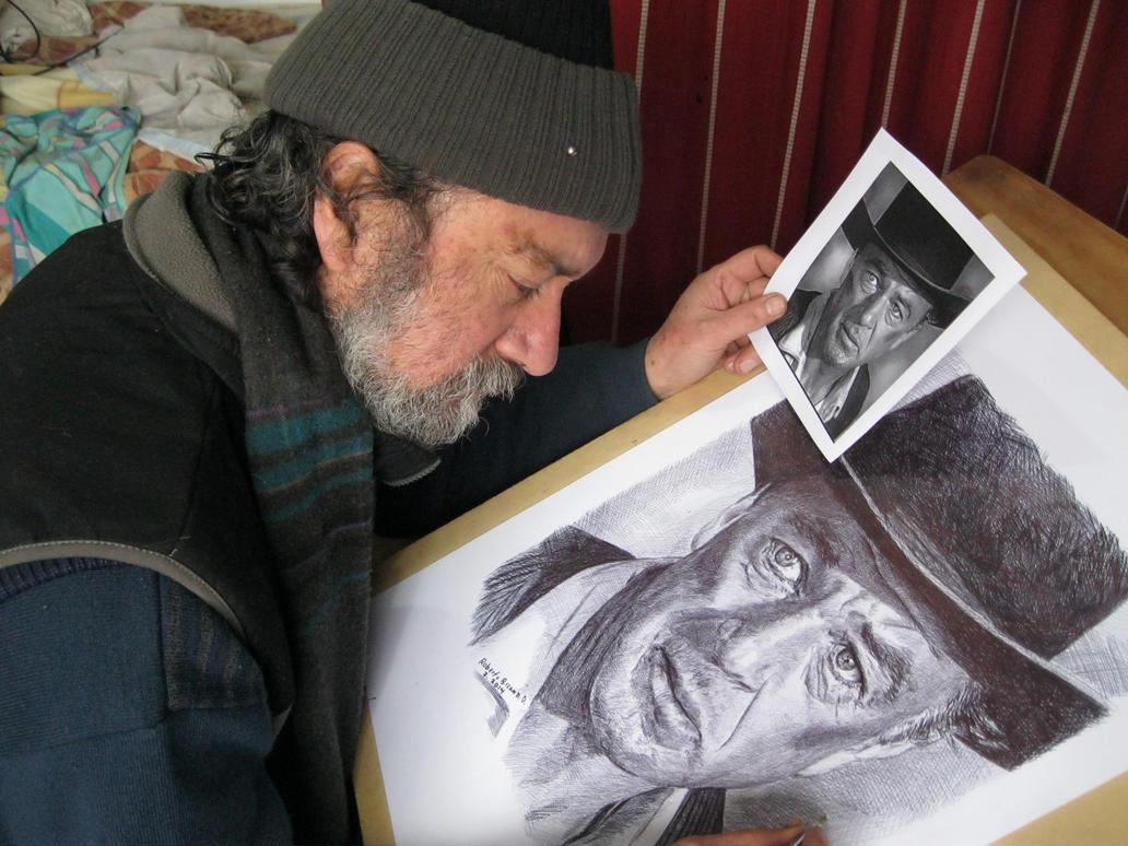 dibujando a Gary Cooper. by RobertoBizama