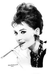 #-Audrey Hepburn,,... by RobertoBizama