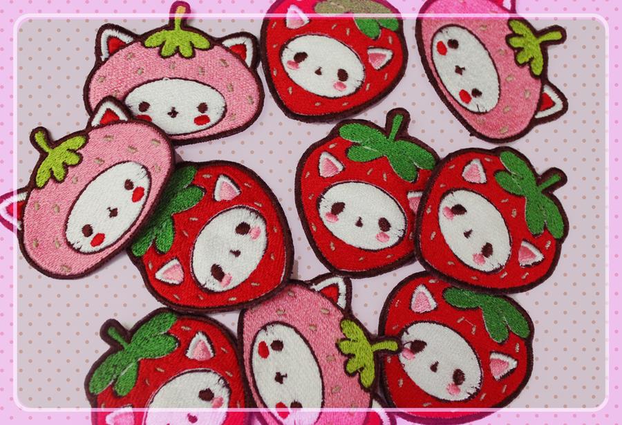 Meowberry Patches by MiiMiiu